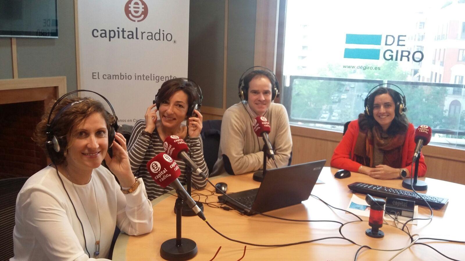 De izquierda a derecha: Rossana García (Gradocell), Isabel Mirones (Biodan), Carlos Cosculluela (Fundación DRO) y Eva Martín (Kinrel)